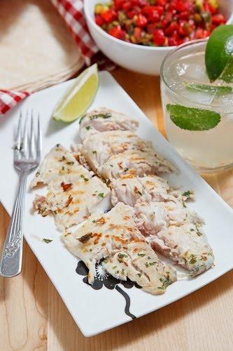 Mojito Grilled Fish Tacos With Strawberry Salsa Recipe — Dishmaps