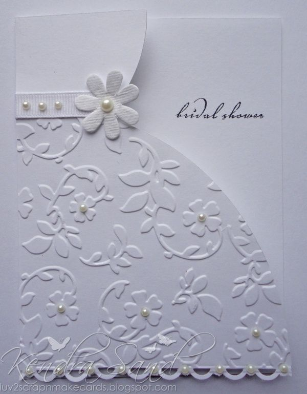 Luv 2 Scrap N Make Cards Bridal Shower Homemade Cards Pinterest