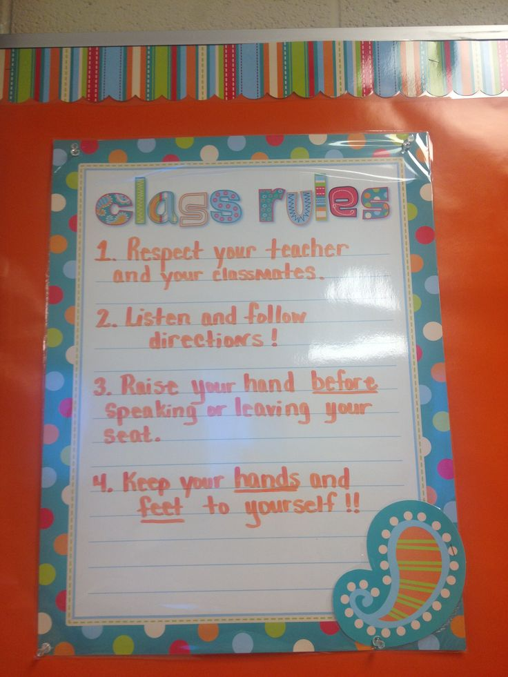 Classroom Rules Decor : Middle school classroom rules decorations