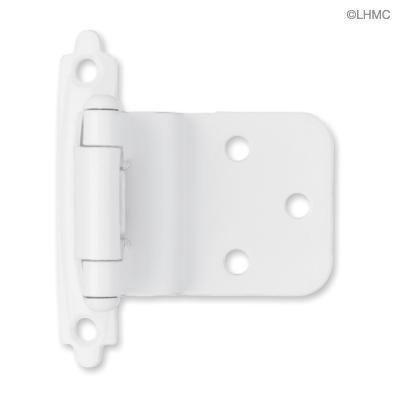 White cabinet hinges kitchen remodel pinterest for Black hinges for kitchen cabinets