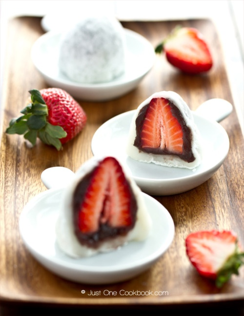 Chocolate Covered Strawberry Mochi | Drinks & Desserts Galore | Pinte ...
