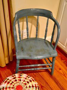 Annie sloan chalk paint captains chair