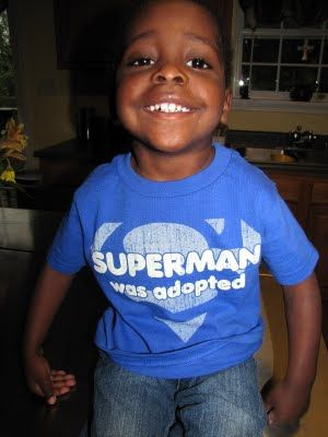 Love this adoption story and his great t-shirt...