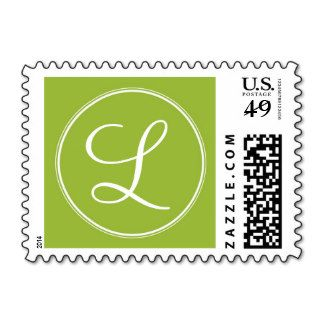 Monogram - grass stamps