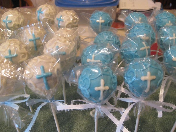 italian jewelry First Communion Cake pops for boy  Holy communion
