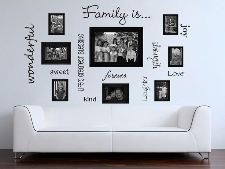 Family words family photo wall vinyl wall decal