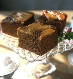Upside-Down Pear Gingerbread | yummie yummie | Pinterest