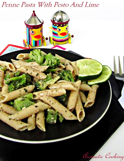 Aromatic Cooking: Penne Pasta With Pesto And Lime