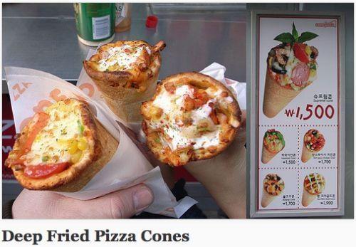 Deep fried pizza cones | Fried | Pinterest