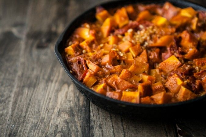 Naturally Ella | Curried Butternut Squash and Brown Rice Skillet ...