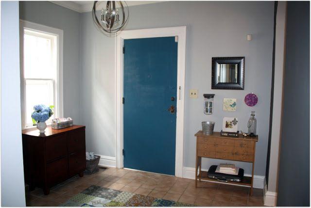 Benjamin moore slate teal color inspirations pinterest for Slate blue front door