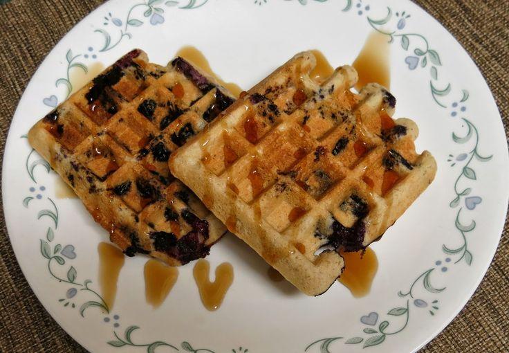 Almond Blueberry Waffles - Gluten Free & Dairy Free