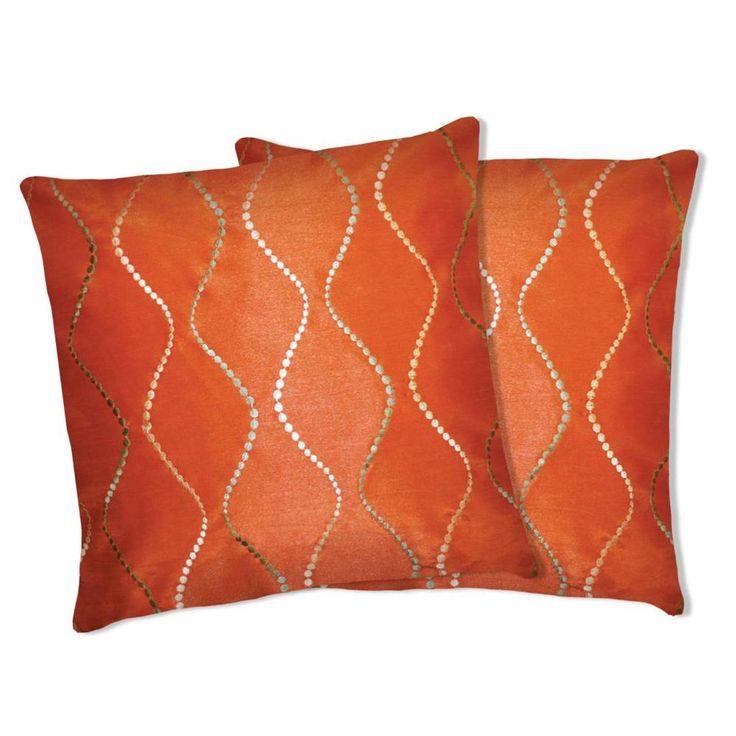 Overstock Decorative Throw Pillows : Lush Decor Orange Swirl Decorative Pillows (Set of 2)