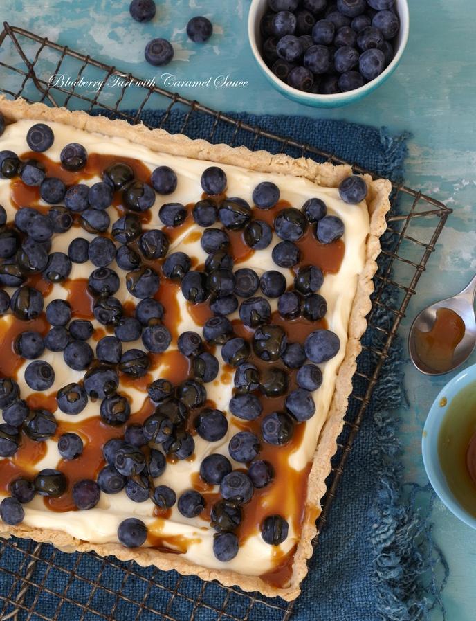 Blueberry Tart with Caramel Sauce http://www.sweetpaulmag-digital.com ...