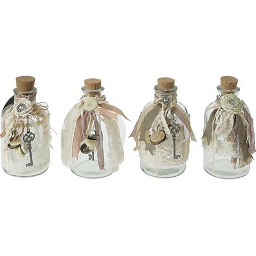 decorated glass bottle with ribbons bottle crafts pinterest. Black Bedroom Furniture Sets. Home Design Ideas