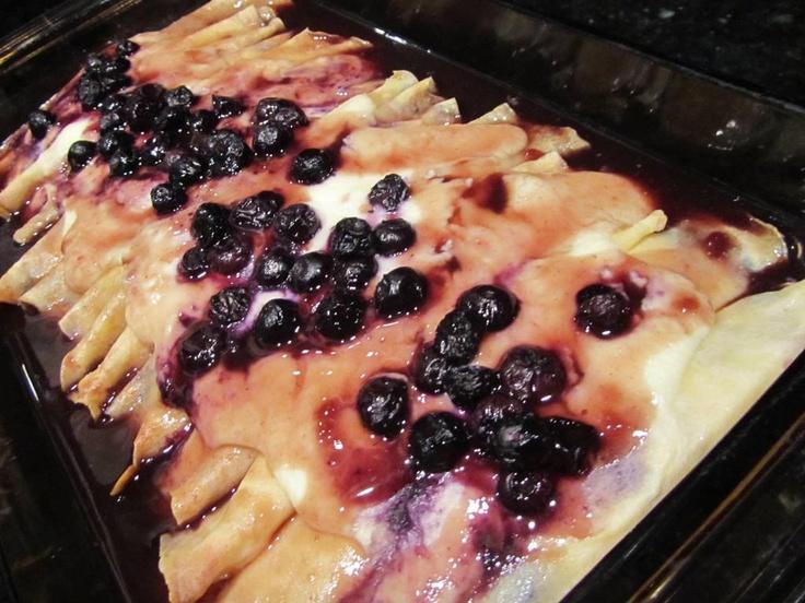 BLUEBERRY CHEESE BLINTZES | Recipes - Breakfast | Pinterest