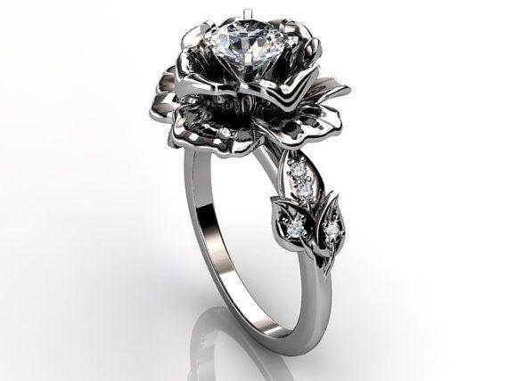 Rose Shaped Wedding Ring home decor Lauxus