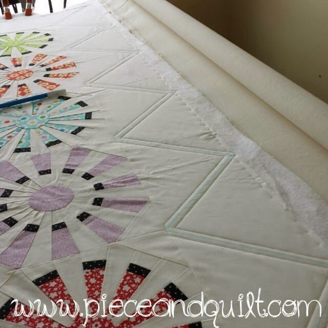 Piece N Quilt: How to: Machine Quilt a Modern Triangle Border with ...