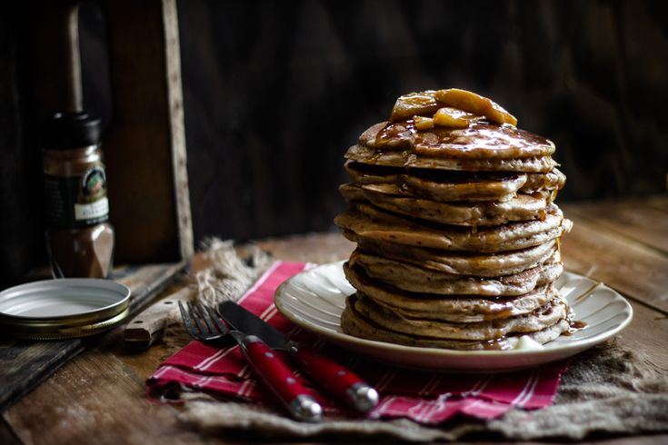 ... : Buttermilk Apple Pancakes with an Apple Toffee Balsamic Maple Syrup
