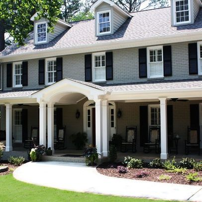 Painted brick exterior exterior house paint pinterest - Painting brickwork exterior ideas ...