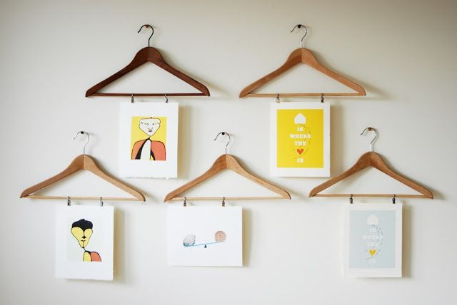 Simple Creative Ways To Hang Art Shop Displays Pinterest