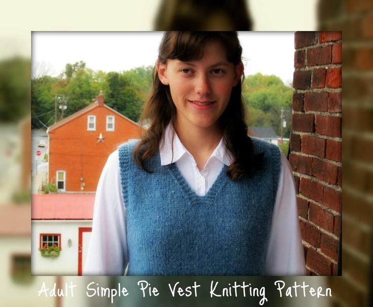 Simple Vest Knitting Pattern : Womans vest pattern, men, easy knit patterns, simple vest sweater vest
