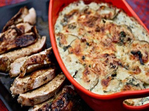 Ancho-Rubbed Turkey Breast With Cilantro-Habanero Potato Gratin | Rec ...