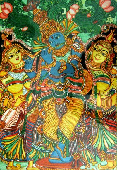 Kerala mural paintings india indian art kerala mural for Art mural painting