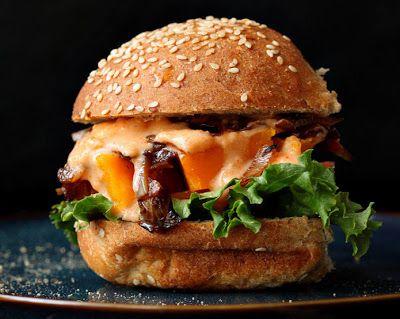 Chipotle Mayo Turkey Bacon Burger Recipe. Healthier Burger but still ...