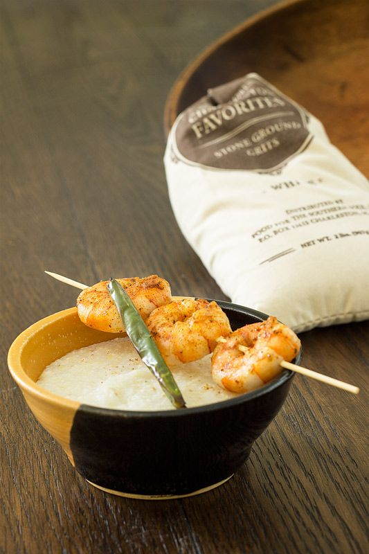 Shrimp and Roasted Serrano Grits - Spicy, buttery Southern-style grits ...
