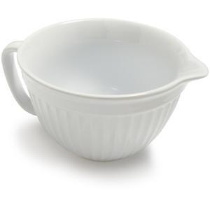 Sur la table white stoneware batter bowl products i love for Sur la table mixing bowls