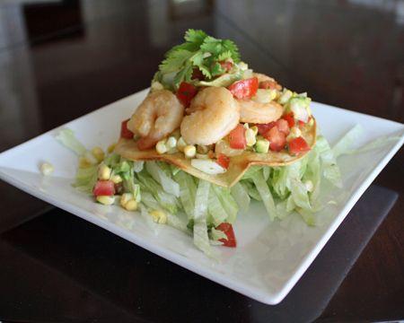 Shrimp Tostadas with Corn Salsa | Recipe