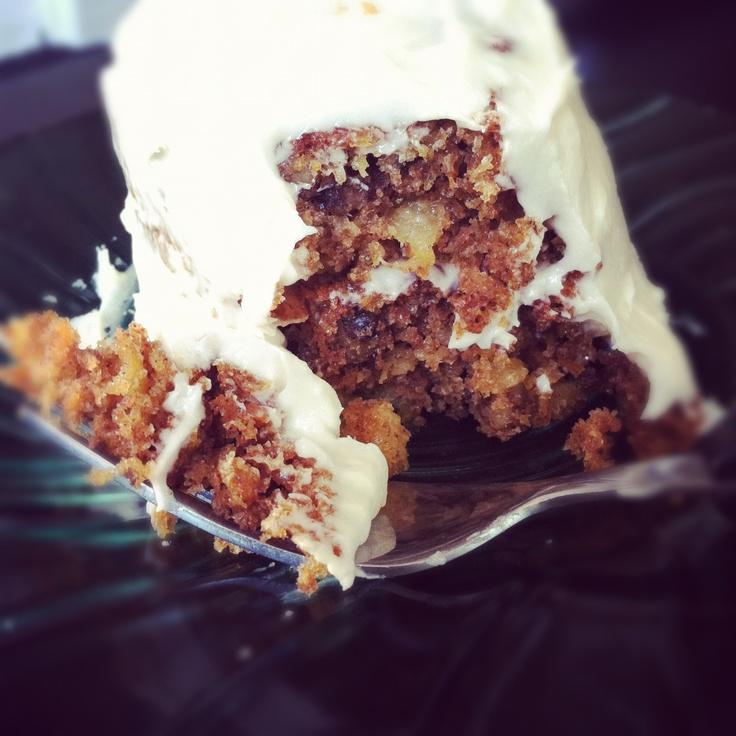 Whole Wheat Carrot Cake - sooooo good! Recipe: http://kateandthefinn ...