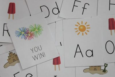 The Activity Mom: Summer Alphabet Game (printable)