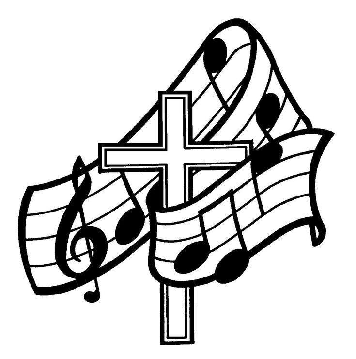 choral singing coloring pages - photo#31