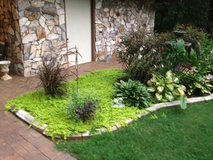 Front flower bed house ideas pinterest for Flower bed plans for front of house