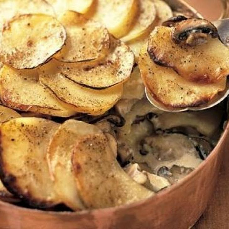 Potato and Portobello Mushroom Gratin | Yummy things | Pinterest