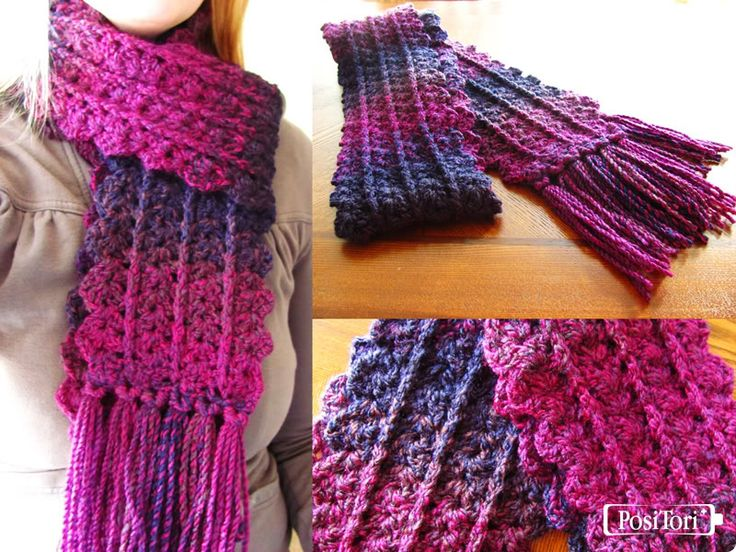 PosiTori: A Geek-Chic Craft Blog: Free Crochet Pattern: Zip Line Scarf