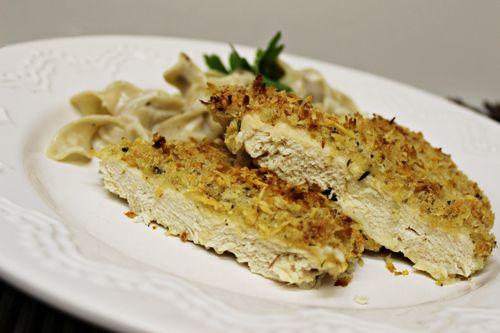 Crispy Garlic-Parmesan Chicken (plus our shredded chicken FAIL)
