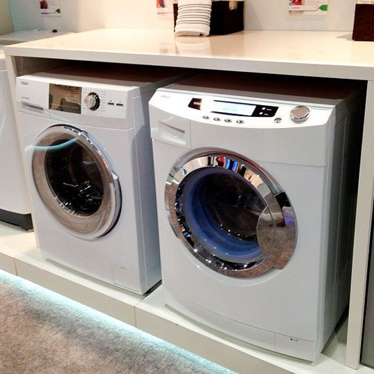 haier washer dryer for small space dwellers snapshots from ces 20. Black Bedroom Furniture Sets. Home Design Ideas