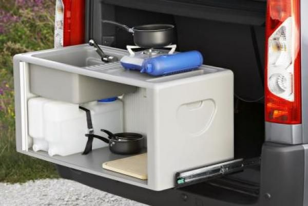 Kitchen unit campervan design pinterest for Camper van kitchen units