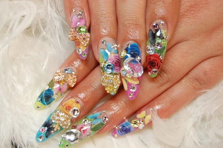 Like a garden on your fingers ;) | I believe in manicures | Pinterest