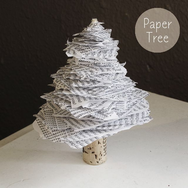 Diy paper christmas tree mox amp fodder