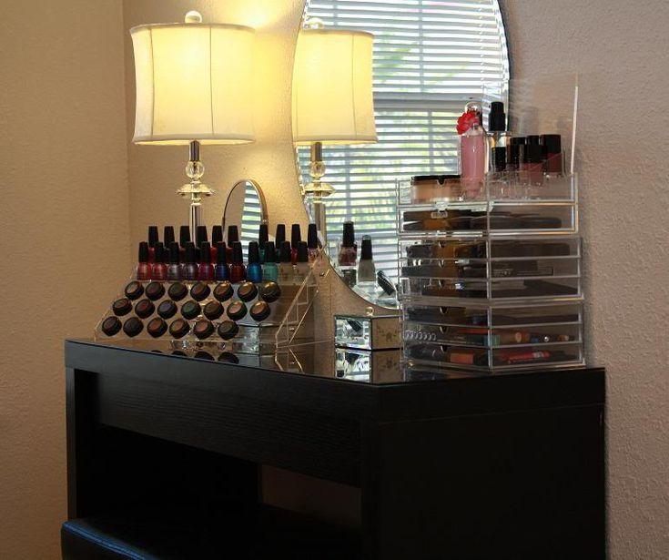 Schminktisch Ikea Malm Schwarz ~ makeup storage dressing table from Ikea  Organization  Pinterest
