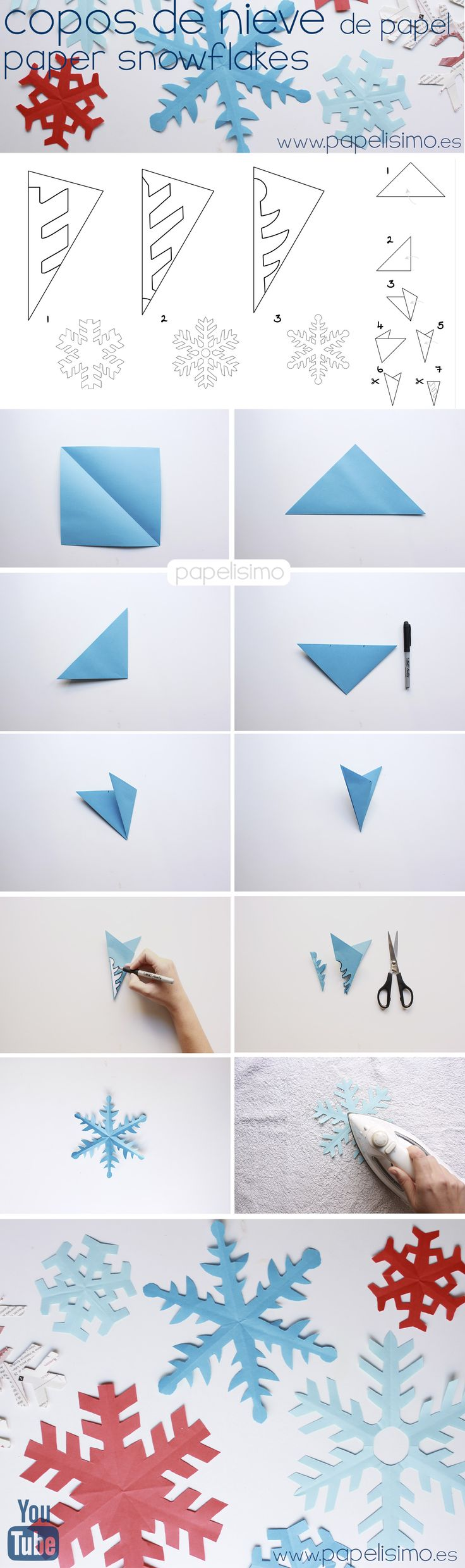 Google как сделать снежинку из бумаги
