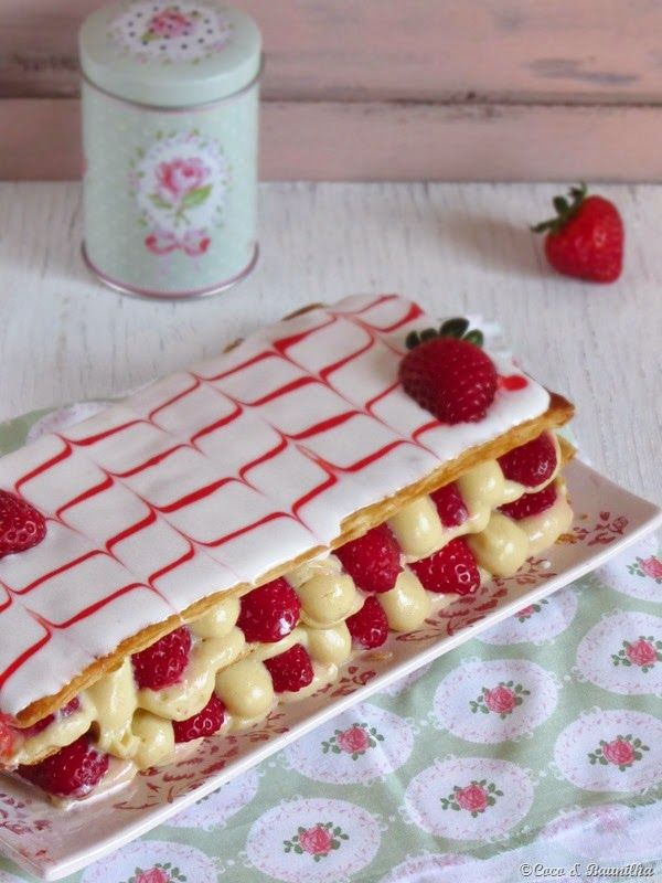 Strawberry mille-feuille | Food | Pinterest
