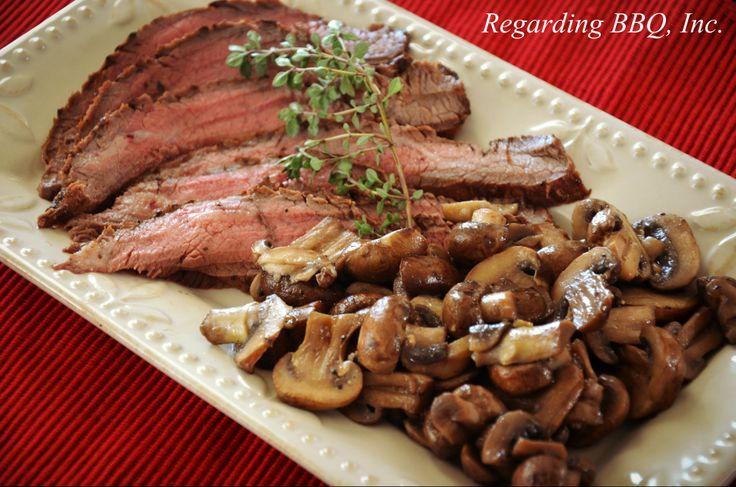 Flank Steak with Mushrooms | Recipe