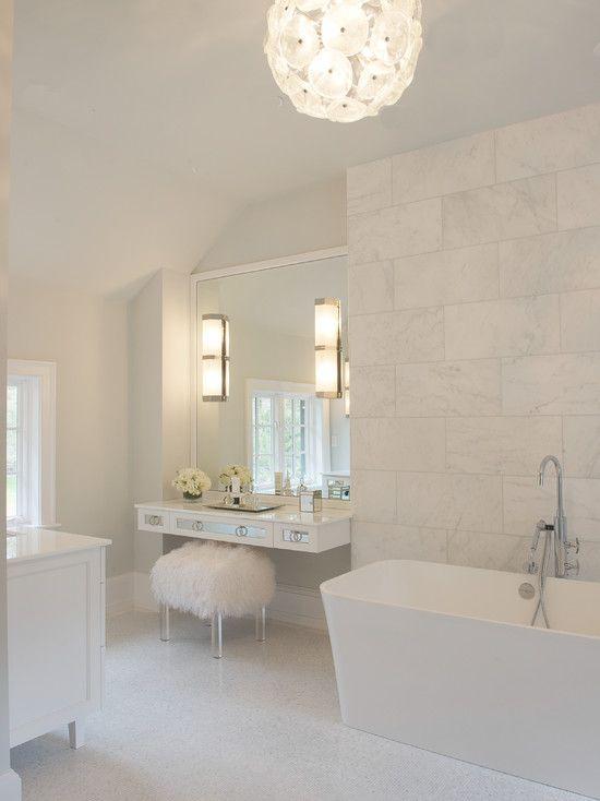 Elegant White Master Bath Dream Home Pinterest