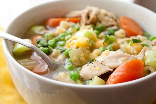 Chicken Noodle Soup. The chicken broth was divine! Need to roast ...