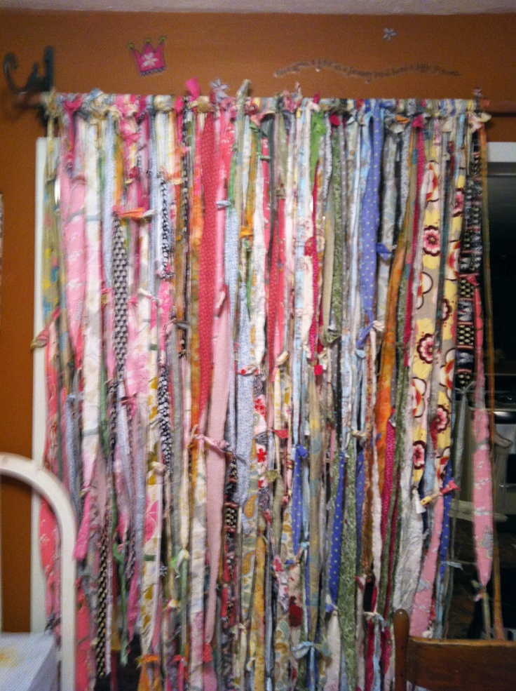 Scrap curtain | all my sewing fun | Pinterest